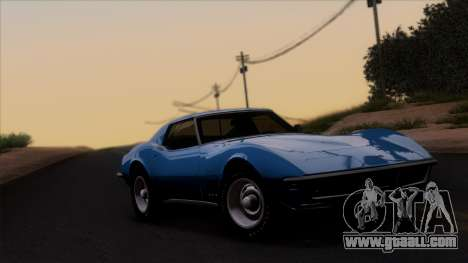 Chevrolet Corvette C3 Stingray T-Top 1969 v1.1 for GTA San Andreas