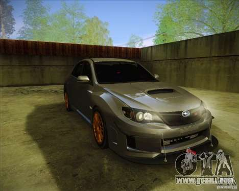 Subaru Impreza WRX STI 2011 for GTA San Andreas right view