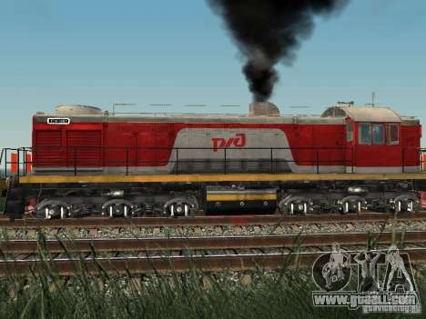 Tem2-6883 RZD for GTA San Andreas back left view
