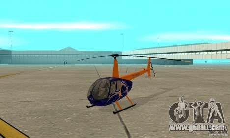 Robinson R44 Raven II NC 1.0 Skin 3 for GTA San Andreas left view