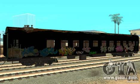 Custom Graffiti Train 1 for GTA San Andreas back left view