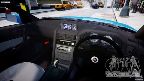 Nissan Skyline R-34 V-spec for GTA 4 back view