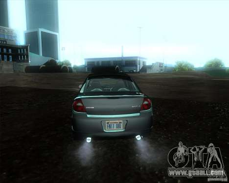 Dodge Neon for GTA San Andreas back left view