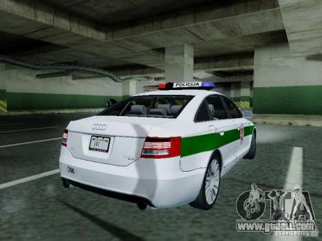 Audi A6 Police for GTA San Andreas right view