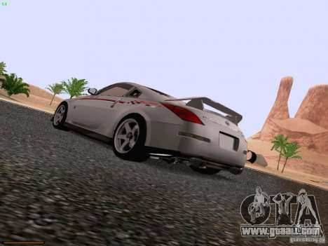 Nissan 350Z Nismo S-Tune for GTA San Andreas left view