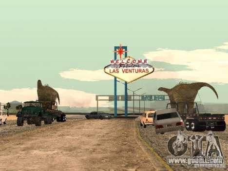 Dinosaur Trailer for GTA San Andreas left view