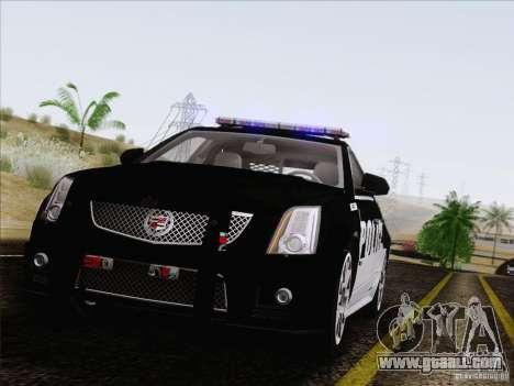 Cadillac CTS-V Police Car for GTA San Andreas back view