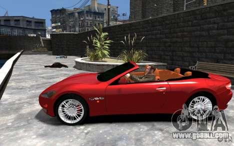 Maserati GranCabrio for GTA 4 left view