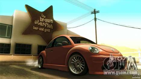 Volkswagen Beetle RSi Tuned for GTA San Andreas bottom view