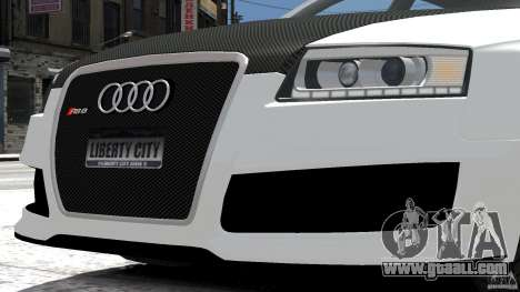 Audi RS6 Avant 2010 Carbon Edition for GTA 4 inner view