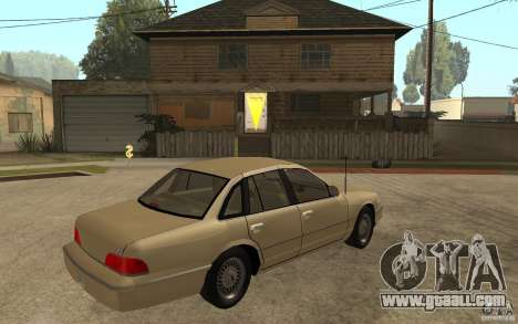 Ford Crown Victoria LX 1992 for GTA San Andreas right view