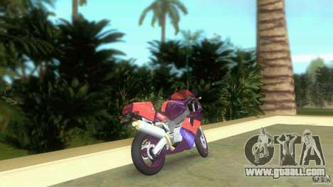 Yamaha FZR 750 midnight black for GTA Vice City back left view