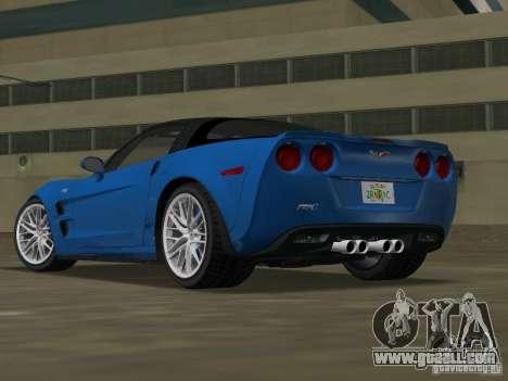 Chevrolet Corvette ZR1 for GTA Vice City left view