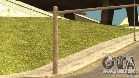 Rusty traffic lights for GTA San Andreas forth screenshot