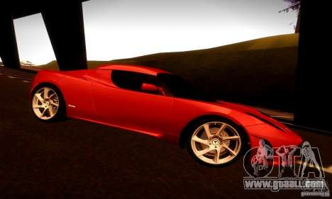 Tesla Roadster Sport for GTA San Andreas back view