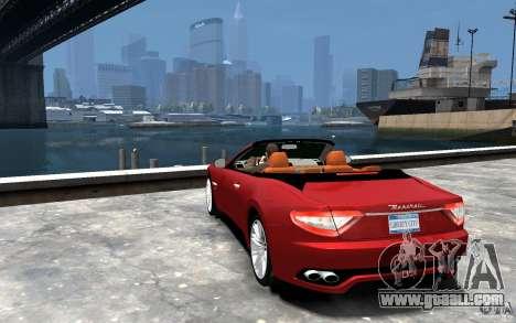 Maserati GranCabrio for GTA 4 back left view