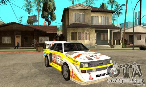 Audi Quattro S1 Group B for GTA San Andreas back view