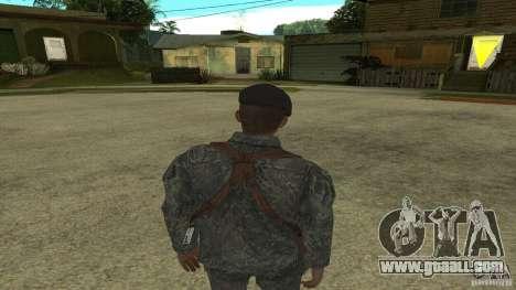 Shepard of CoD MW2 for GTA San Andreas third screenshot