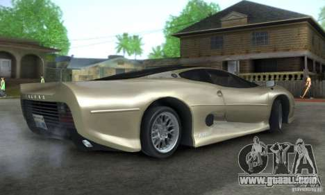 Jaguar XJ 220 Black Rivel for GTA San Andreas right view