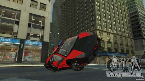 Lamborghini Reventon Police Hot Pursuit for GTA 4 side view