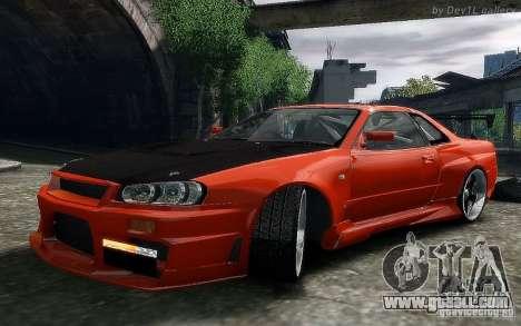 Nissan SkyLine BNR34 for GTA 4