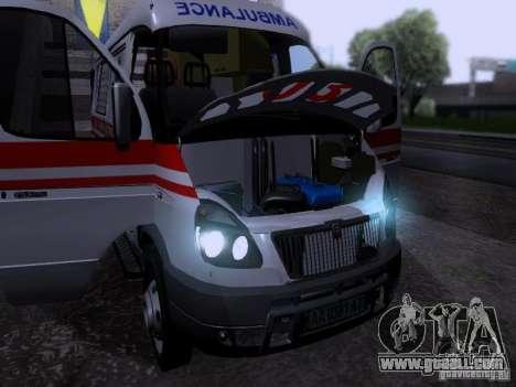 Gazelle 2705 ambulance for GTA San Andreas back view