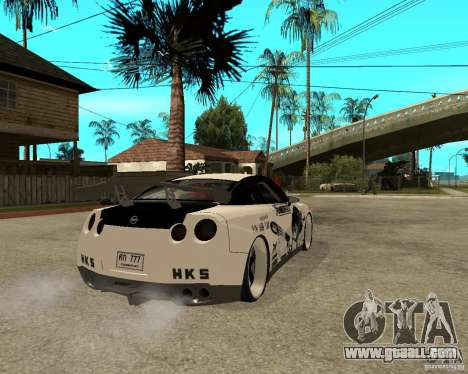 Nissan Skyline R35 for GTA San Andreas back left view