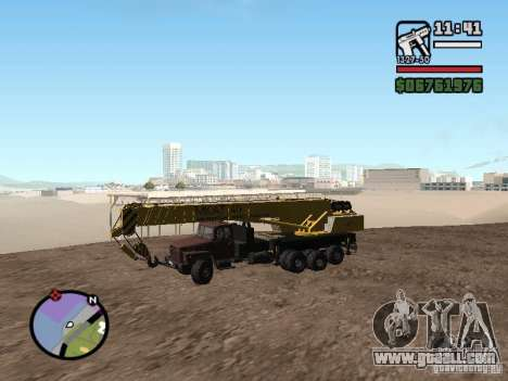 KrAZ-250 MKAT-40 for GTA San Andreas left view