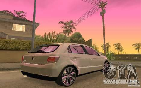 Volkswagen Gol G6 for GTA San Andreas back view