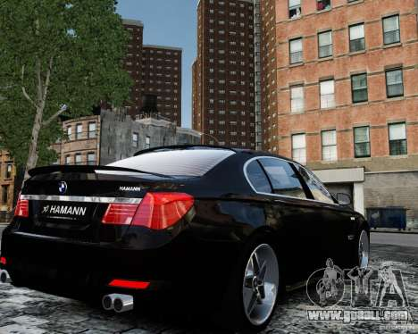 BMW 750Li (F02) Hamann 2010 v2.0 for GTA 4 back view