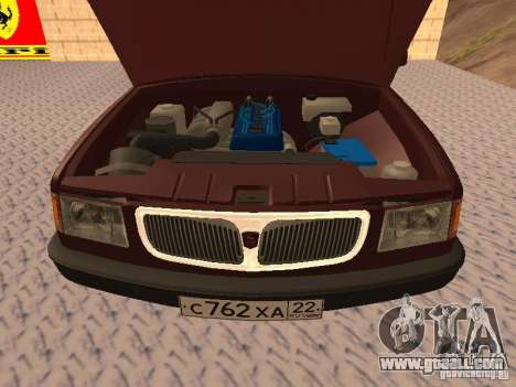 GAZ 3110 VOLGA v1.0 for GTA San Andreas back view