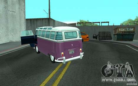Volkswagen Transporter T1 SAMBAQ CAMPERVAN for GTA San Andreas side view