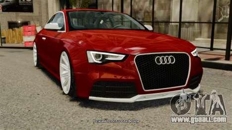 Audi RS5 2012 for GTA 4