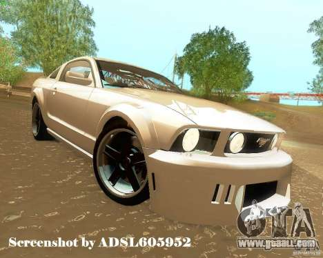 Ford Mustang GT 2005 Tunable for GTA San Andreas bottom view