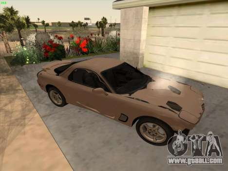 Mazda RX-7 for GTA San Andreas inner view
