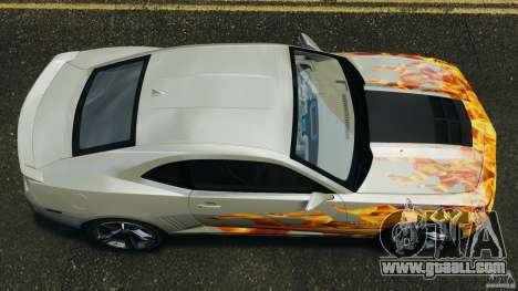 Chevrolet Camaro ZL1 2012 v1.0 Flames for GTA 4 right view
