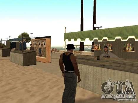 Market on the beach for GTA San Andreas eighth screenshot