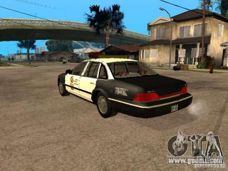 Ford Crown Victoria 1994 Police for GTA San Andreas left view