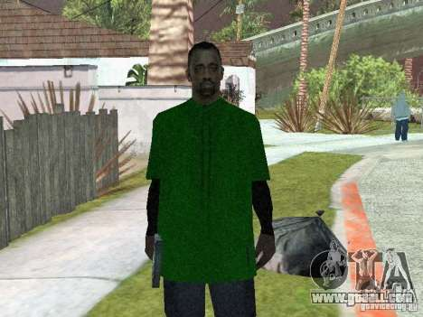New skins the Grove Street Gang for GTA San Andreas second screenshot
