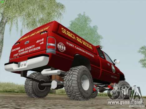 Dodge Ram 3500 Search & Rescue for GTA San Andreas back view