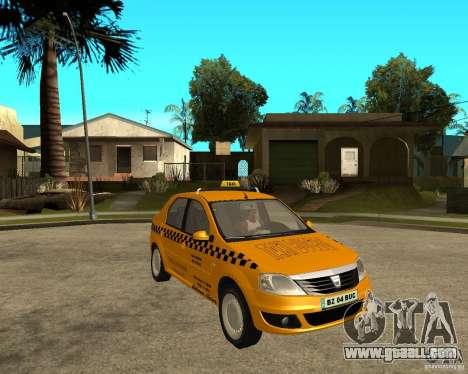 Dacia Logan Taxi Bucegi for GTA San Andreas right view