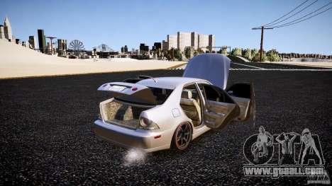 Lexus IS300 for GTA 4 upper view