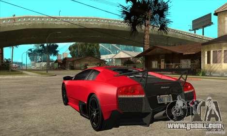 Lamborghini Gallardo LP570-4 SV for GTA San Andreas back left view