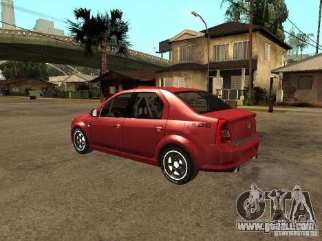 Dacia Logan Rally Dirt for GTA San Andreas left view