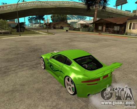 Aston Martin Vantage V8 - Green SHARK TUNING! for GTA San Andreas left view