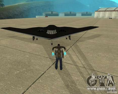 B-2 Spirit Stealth for GTA San Andreas back view