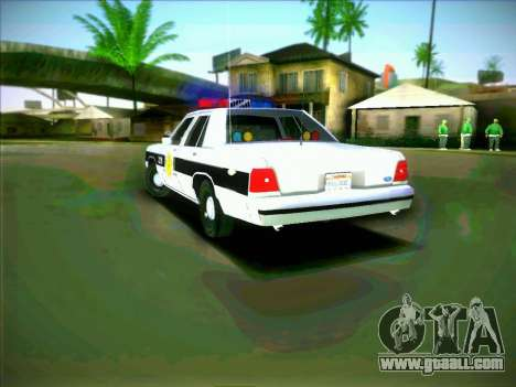 Ford Crown Victoria LTD 1991 HILL-VALLEY Police for GTA San Andreas back left view