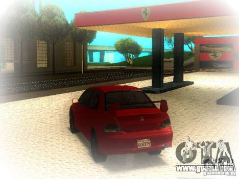 Mitsubishi Lancer Evolution IX MR 2006 for GTA San Andreas back left view