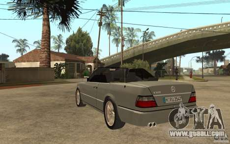 Mercedes-Benz E320 C124 Cabrio for GTA San Andreas back left view