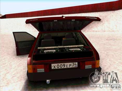 VAZ 2109 Winter for GTA San Andreas back left view